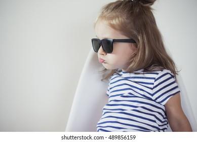 sad mood of toddler girl