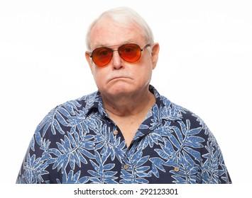 858de102 Sad Retired Senior Man Wearing Loud Stock Photo (Edit Now) 292123301 ...