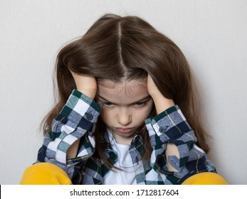sad teenage girl sitting on the floor. Child protest, the problem of the relationship between adolescents and parents, adolescent psychology, concept