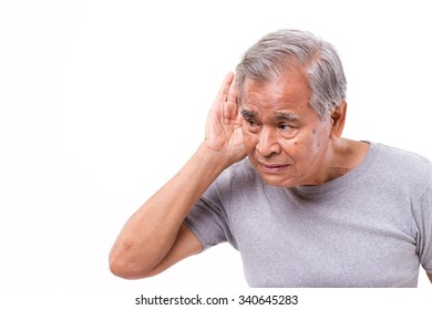 sad, unhappy man listening