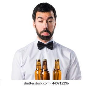 Sad waiter