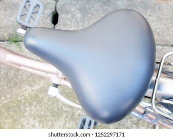 Saddle of a bicycle.