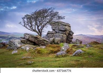 Saddle tor dartmoor England Devon uk