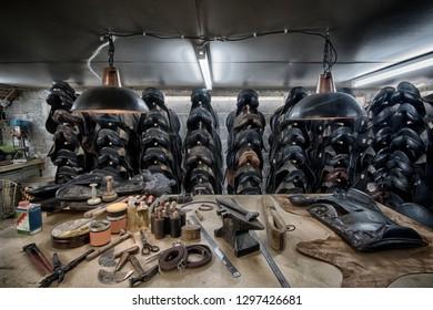 Saddleworkshop in basement