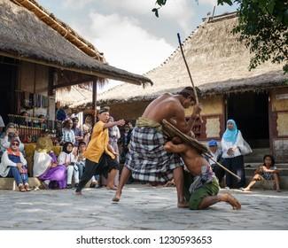 Sade, Central Lombok, Lombok, July 21, 2018, Lombok traditional culture