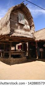 "Sade Village, Lombok Island, Indonesia. Traditional ""Rice House"""