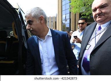 Sadiq Khan , Mayor Of London, leaving Southwark Cathedral after his inauguration ceremony, London , May 7 2016
