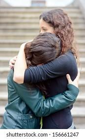 Sadly hug girls