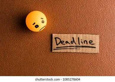 Sadness due the deadline
