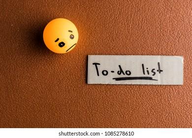 Sadness due to-do list