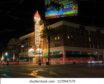 Saenger Theater on Canal Street in New Orleans, Louisiana, USA - April 11, 2018