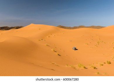 Safari car in the desert, Ouzina, Morocco