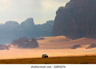 safari in desert wadi rum