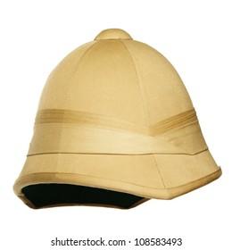 safari hat isolated on white background
