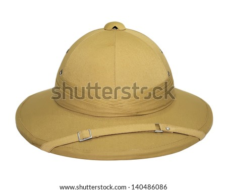 c56bae97e Safari Hat Isolated On White Background Stock Photo (Edit Now ...