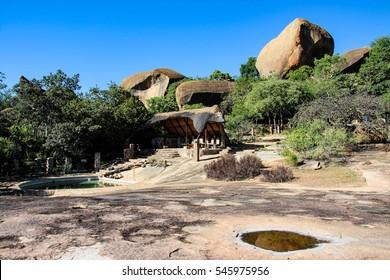 Safari lodge in Africa near Matobo National Park, Zimbabwe