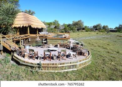 Safari lodge and seating area