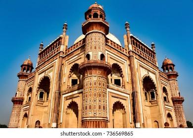 Safdarjung tomb located in Delhi, India.