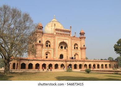 Safdarjung's Tomb in a marble mausoleum in New Delhi, India