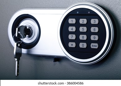 safe close-up, protection, security lock, banking and finance