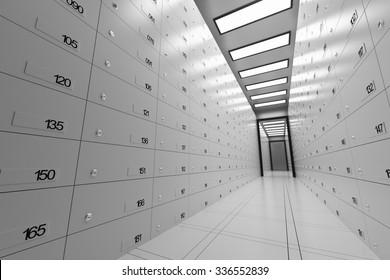 Safe Deposit Lockers In A Bank