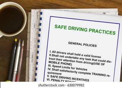 Safe driving practices guidelines- many uses for transport industry