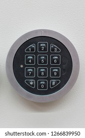 Safe lock code Password Pad number Protection Safety box bank. safe code lock. vertical photo