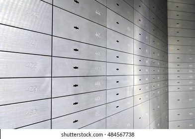 Safe lockers, Safe deposit boxes of an German bank