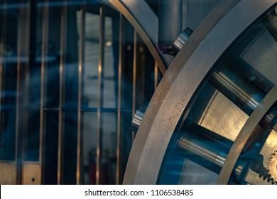 safe strongbox bank vault detail