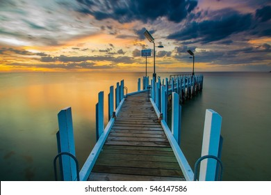 Safety Beach jetty at sunset