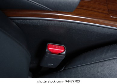 Safety buckle on a car seat