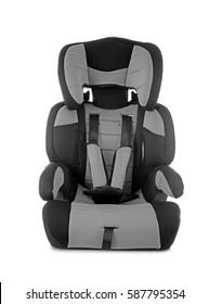 Safety car seat for baby  on  white background