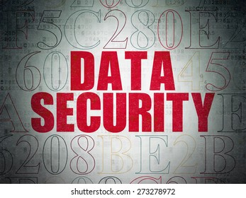 Safety concept: Painted red text Data Security on Digital Paper background with Hexadecimal Code, 3d render
