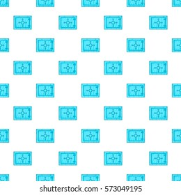 Safety deposit box pattern. Cartoon illustration of safety deposit box  pattern for web