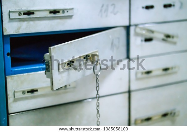 Safety Deposit cells, storage, safe cells with two inserted keys