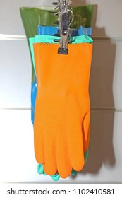 Safety Equipment Orange Gloves Chemical Protection