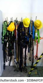 safety equipment in a storage.