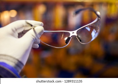 Safety, eye protection, transparent glasses
