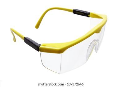 Safety Eye Shield on White Background