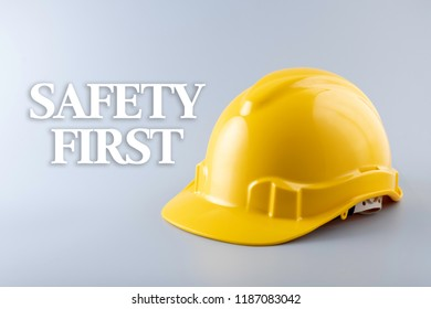 Safety First. Health and Safety concept.