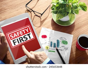 Safety First Warning Digital Device Wireless Browsing Concept