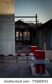 Safety gate leading into rail yard in Winterthur Switzerland