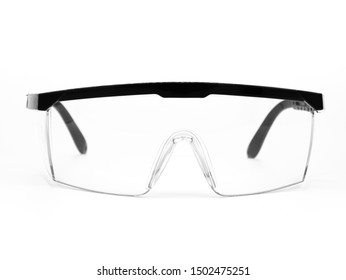 Safety glasses isolated on white background.