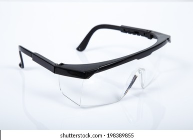 safety glasses on white isolated.