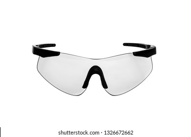 Safety glasses for shooting and work isolated on white background
