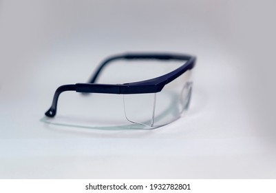Safety glasses are used to prevent damage from metal particles entering the eyes.