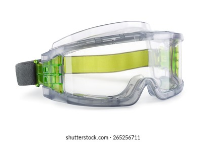 Safety goggles isolated on white