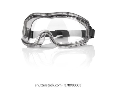 Safety goggles isolated on white background