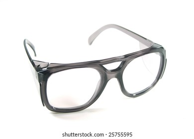 Safety Goggles on White Background