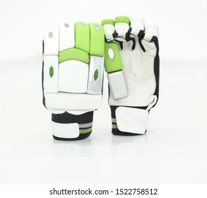 safety hand gloves for cricket  batsman isolated